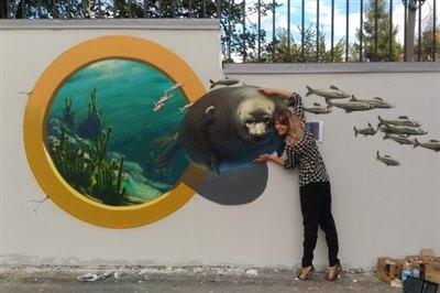 Уличная галерея 3D-рисунков появилась в Иркутске