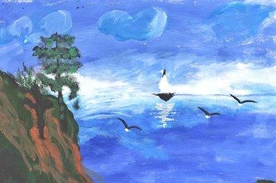 Стартовал прием детских рисунков Байкала на последний конкурсный месяц